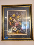 Signed Framed Print, Flowers