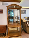 Curio with Frosted Top, Oak Color