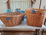 Lot of 2 Wicker Baskets