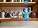 Shelf Contents, Coffee Mugs