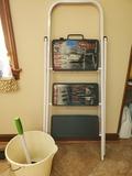 3 Step, Step Ladder, Bucket, Plunger