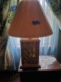 2 Lamps, Glass/Wood