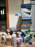 Lot of Kleenex, New Bathroom Supplies, Basket