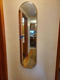 Long Oval Wall Mirror