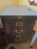 Cole 2 Drawer Legal File Cabinet, Metal, with Keys
