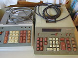 2 Victor Electric Adding Machines with Printer