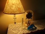 Table Lamp, Danbury Clock with Key, Dolphin