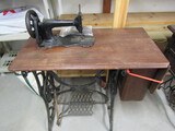 Antique Fiddle Back Sewing Machine Treadle