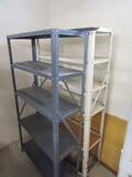 2 Metal Shelf Units