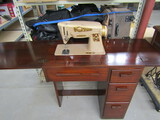 Electric Singer Sewing Machine on Stand
