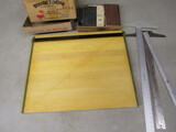 Drafting Top and Tools, T-Squares, Books