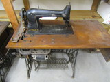 Vintage Singer Electric Sewing Machine on Treadle Stand