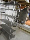 Chrome Metal Shelf Unit