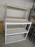 2 Plastic Shelf Units