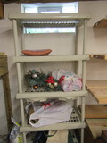 Plastic Shelf with Contents