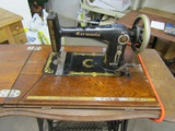 Germania Treadle Sewing Machine on Stand, marked 1898