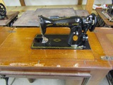 Singer Sewing Machine AJ496958 on Stand