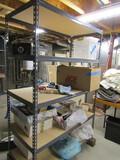 Metal Adjustable Shelf Unit, NO Contents