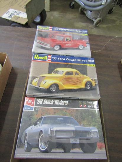 3 Car Models, 2- New Unopened