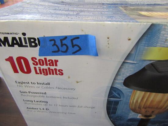 Malibu, 10 Solar Lights, New in Box