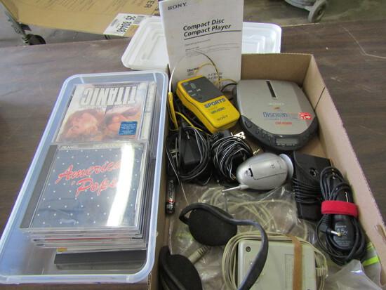 CD Player, Walkman, CD's, Accessories