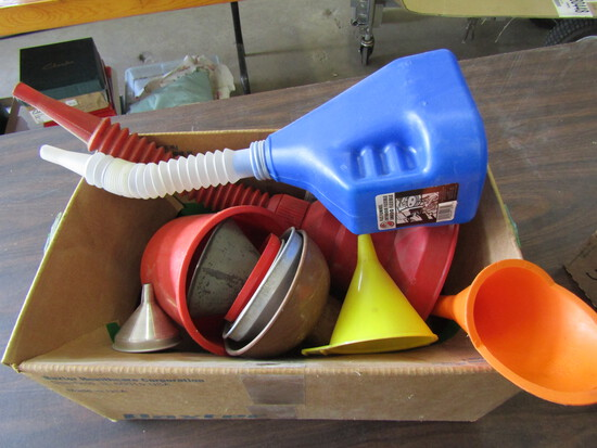 Funnels, Plastic and Metal