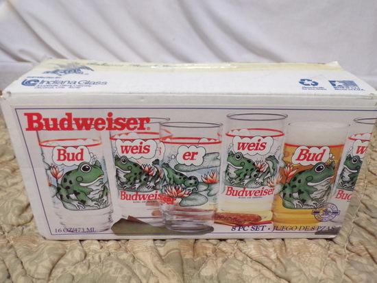 1995 Anheuser-Bush, Inc. Frog Glasses