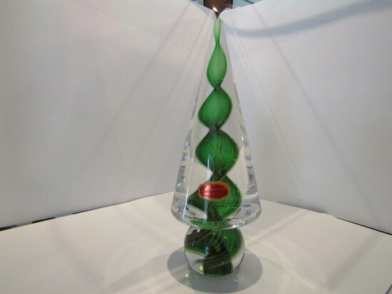 Murano Christmas Tree, 8 inches Tall