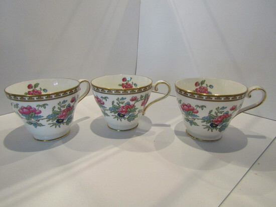 Lot of 3, Aynsley Indian Tree Teacups