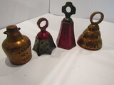 Lot of 4 Holiday Bells
