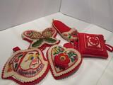 Lot of 5 Felt Hungarian Ornaments