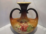Antique Warwick Verbena Handled Vase, IOGA 1900's Portrait