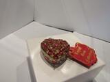 Royal Gem Collection Crystal Heart Trinket Box