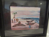 International Painting Signed L. G. Kelli Framed 8 x 10