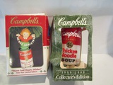Lot of 2 Campbell Ornaments in Box