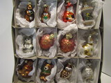 Old World Christmas and Department 56, 12 Ornaments in Box