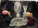 Lot of 4, Antique/Vintage Perfume Bottles