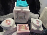 Lot of 4 Precious Moments, Bell, 2 Trinket Boxes, First Christmas