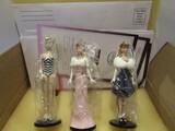 Set of 3 Ashton-Drake Heirloom Barbie Ornaments