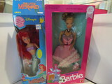 Tyco Little Mermaid and Parisian Barbie, in Box
