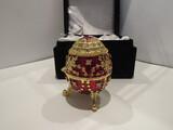 Jeweled Maroone Egg Trinket Box