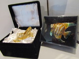 Jeweled Fish and Shoe Trinket Boxes