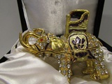 Jeweled Elephant Trinket Box