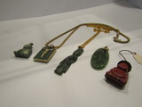 Lot of Jade and Stone Necklaces and Pendents