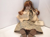 Fannie Turgeons Handmade Doll, Signed and Dated