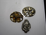 Vintage Art Nouveau Lot of 3 Brooch/Pin, Clip