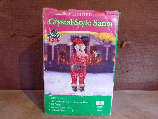 Crystal-style Santa animated