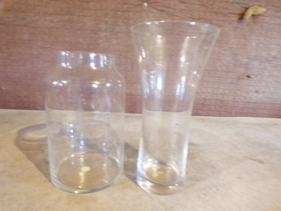 2 PRINCESS HOUSE CRYSTAL vases