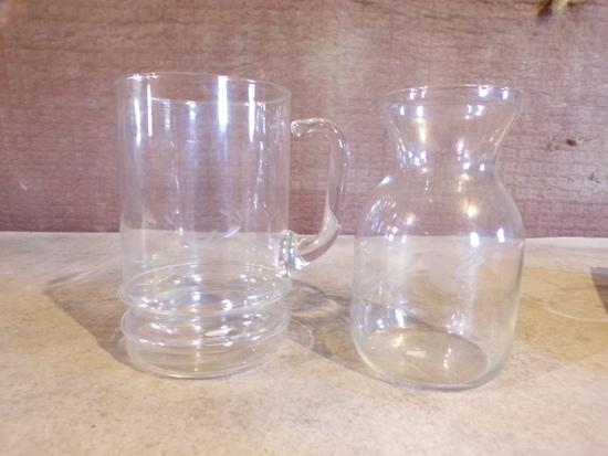 lot of 2 PRINCESS HOUSE CRYSTAL 1 vase 1 pitcher