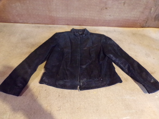 Black Leather Jacket by VALERIE STEVENS